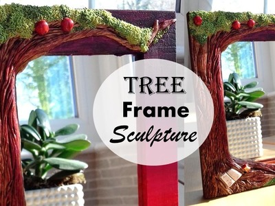 Sculpting A Polymer Clay Tree On Wooden Frame Tutorial || Maive Ferrando