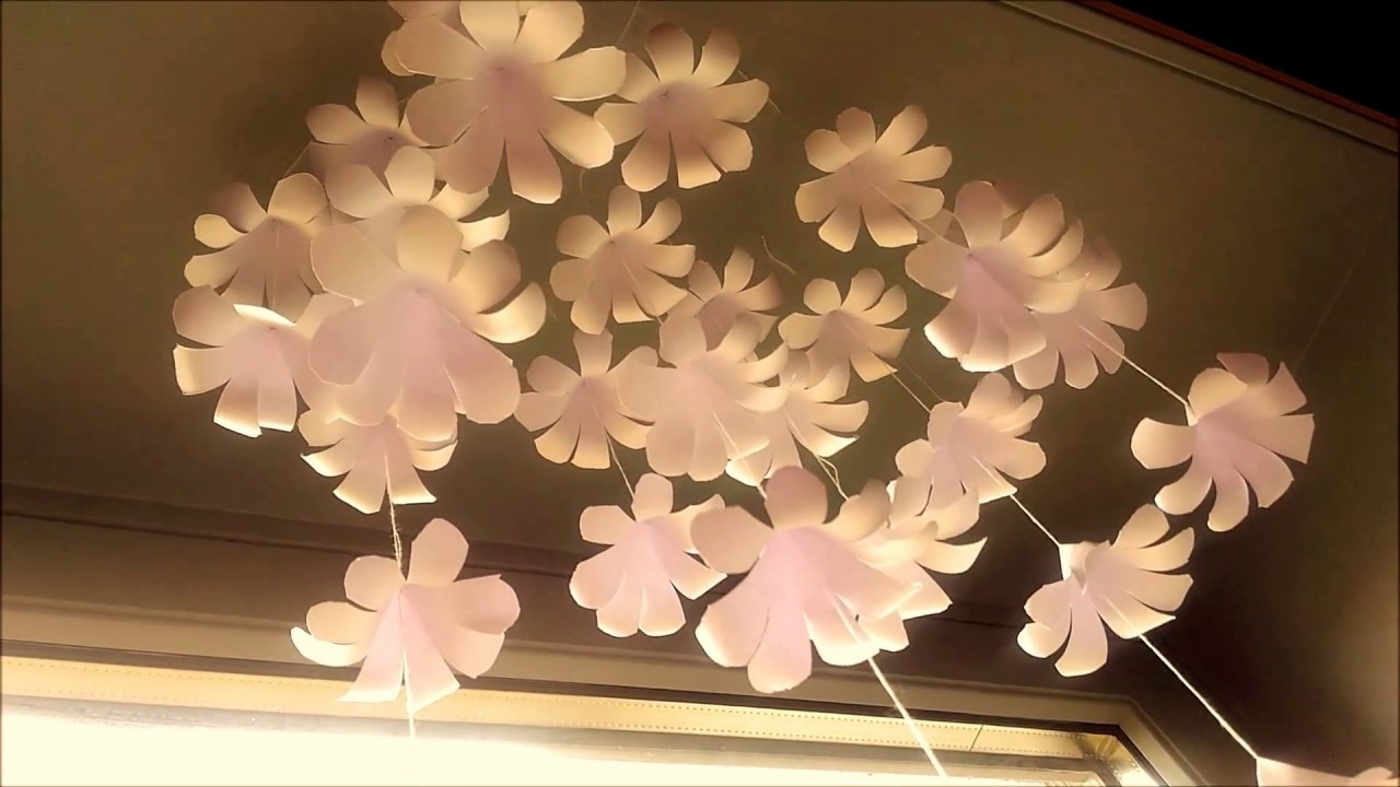 Simple Home Decor Dangling Flowers Handmade Decoration My Crafts And Diy Projects