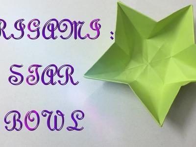 Origami Flower Bowl Tutorial - DIY - Paper Kawaii - YouTube | 300x400