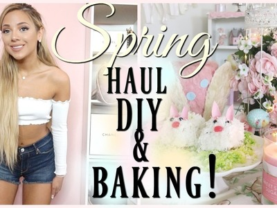 VLOG: new spring clothes, diy decor, & baking! | fancy vlogs