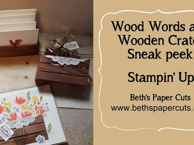 Wood Words and Wood Crate Framelits sneak peek ~ Beth's Paper Cuts