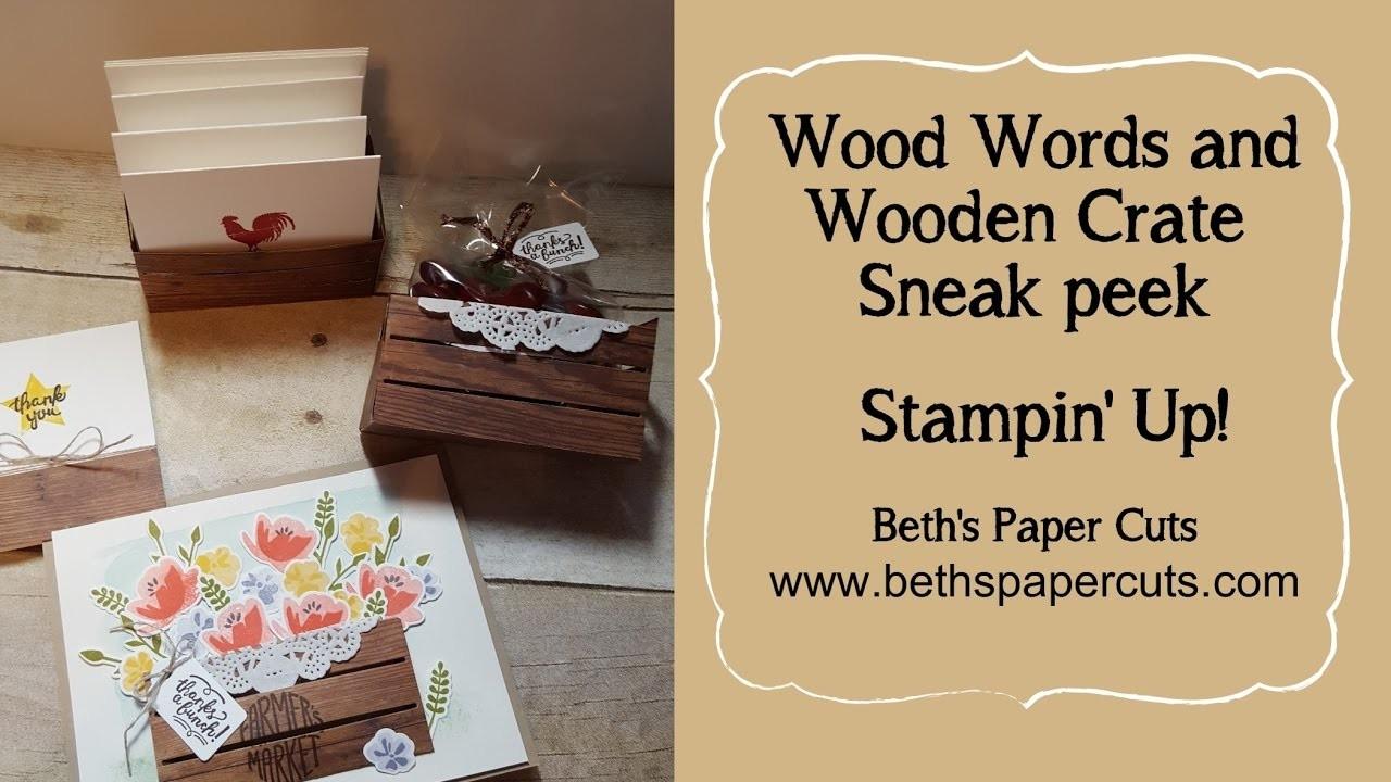 Wood Words and Wood Crate Framelits sneak peek ~ Beth's Paper Cuts