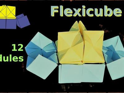 YOSHIMOTO FLEXICUBE by AMIMON - NEW Folding METHOD - NO glue NO tape - ORIGAMI