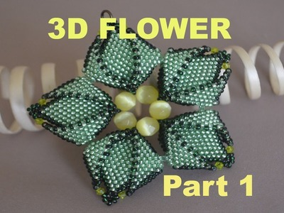 BEADING Tutorial for the STUNNING 3D FLOWER in ENGLISH!!!