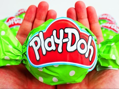 Delightful Play Doh Wrapped Candy Wrapper Surprise Egg Smurfs 2 DIY learn colors Nursery Rhymes