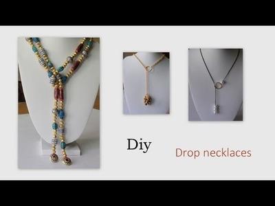 Diy Drop Necklaces