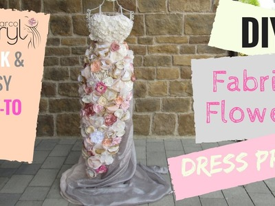 DIY FABRIC FLOWER DRESS PROP FOR EVENTS - WOW FACTOR
