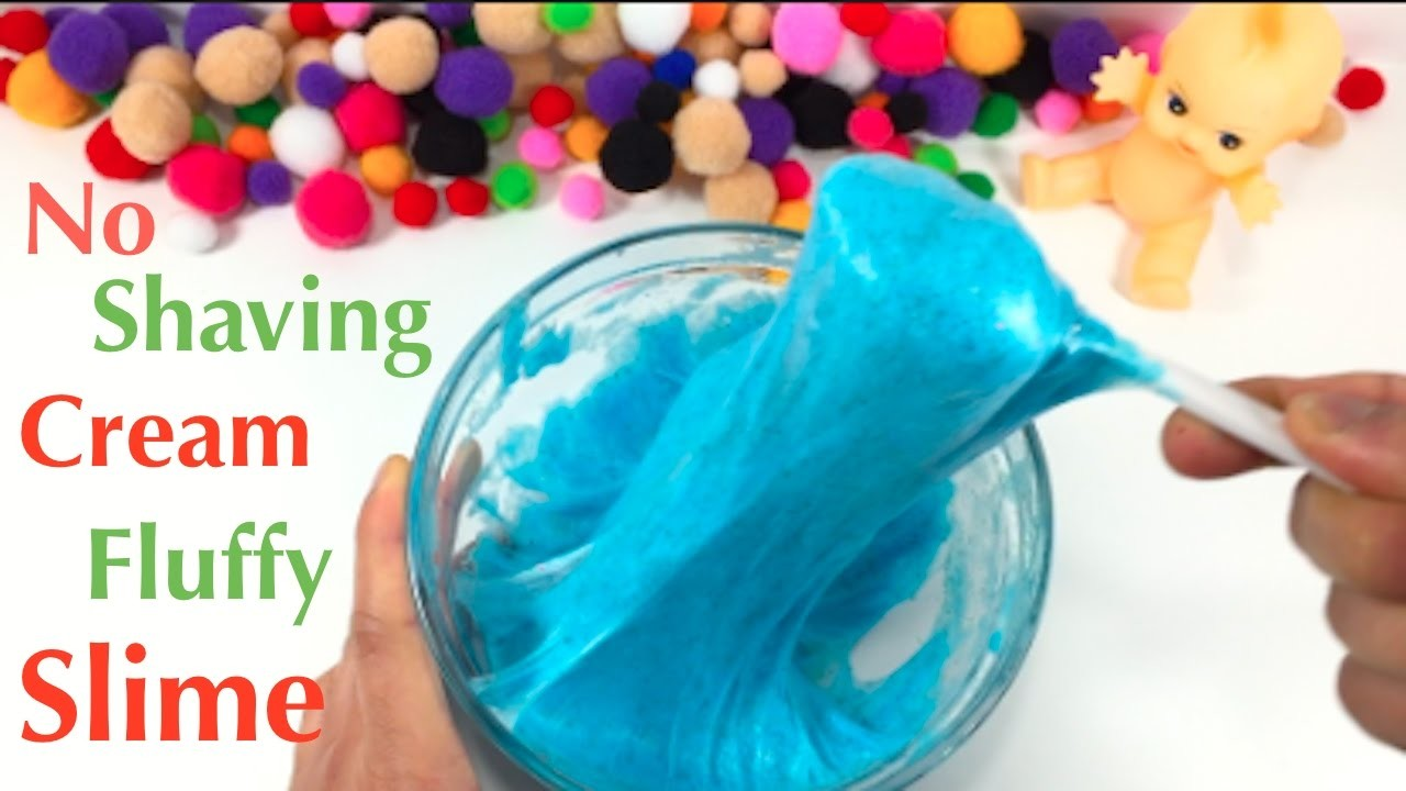 Diy Fluffy Slime Without Shaving Cream How To Make Slime