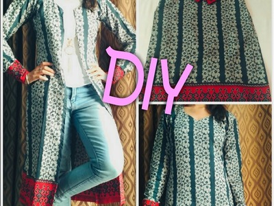 DIY from old kurti to stylish long jacket.Viewer's Choice