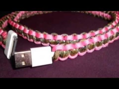 DIY How to make a phone cord protector (Paracord)