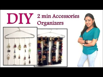 ????DIY Jewellery & Accessories Organizers  |  2 mins Quick & Easy DIY | Simple Organizing Ideas &Tips