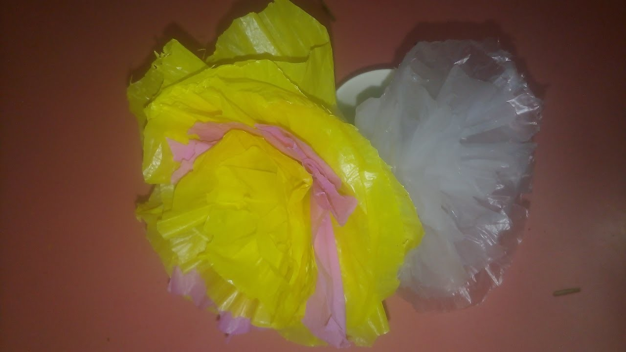 Diy recycling of plastic bags best out of waste for Best out of plastic
