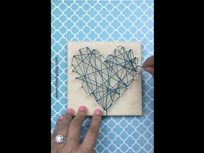 DIY String Art Heart and Free Heart Pattern