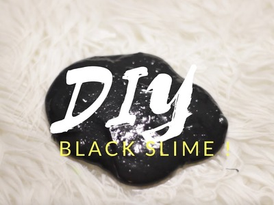 DIY | Toxic Slime - HOW TO MAKE BLACK SLIME!!!