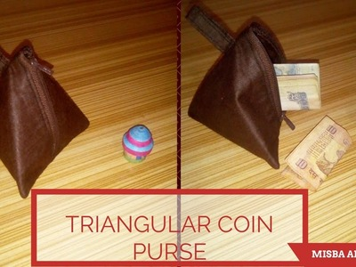 DIY Triangular Coin Pouch !! Samosa Coin PURSE !! FULL TUTORIAL !! INDIAN VERSION