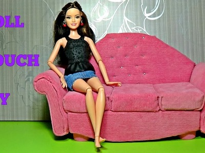 Doll couch DIY For Dolls sofa for Barbie tutorial