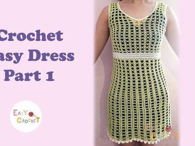 Easy Crochet #3: Crochet Super Easy Dress Part 1
