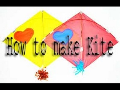 How to make Kite with paper (All Art Tips)