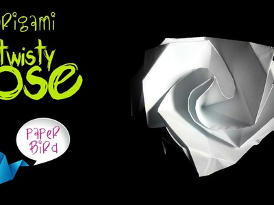 Easy Origami Twisty Rose Folding Instructions | 300x400