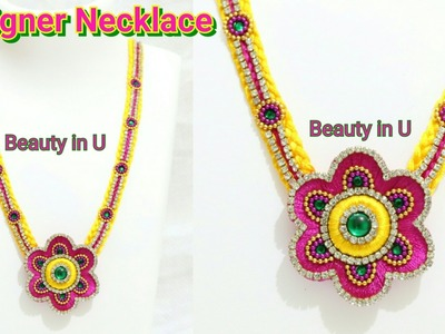 Latest Designer Silk Thread Necklace making at Home | Tutorial