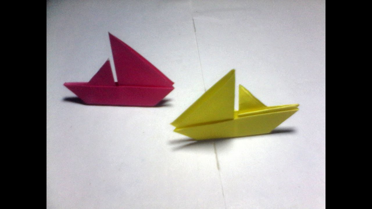 paper folding origami sail boat easy for kids