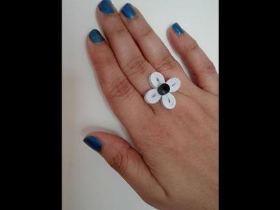 Quilling Finger Ring Tutorial. Design 6