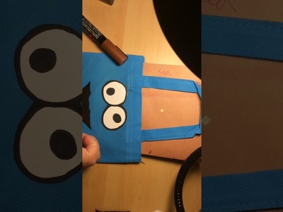 DIY Cookie Monster themed Prize bags
