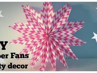 DIY | Funky Paper fans | Party decor ideas