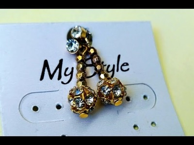 DIY | How to make Simple Earrings in 5 minutes at Home | Tutorial