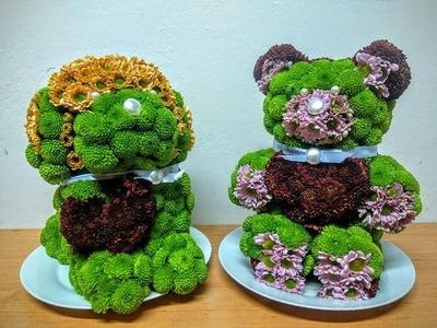 Floral Teddy bear (on the right side) - DIY