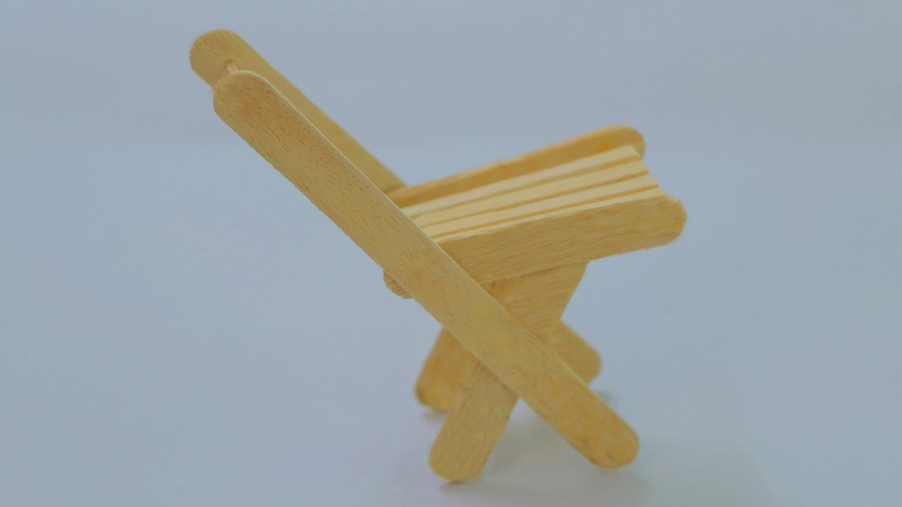 How to build a folding chair using popsicle stick - Easy folding chair