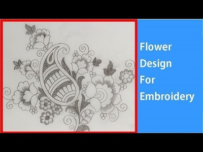 How to draw Flower Design tracing paper for Embroidery