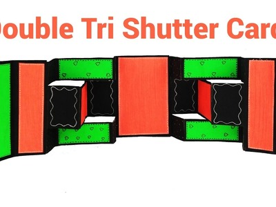 How To Make A Double Tri Shutter Card | Mini Album Tutorial