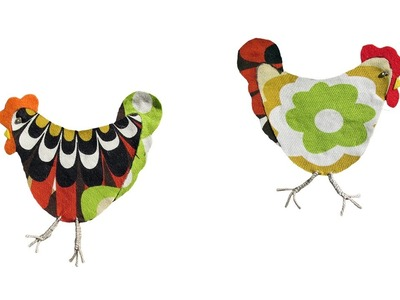 How to make a fabric chicken applique - #71
