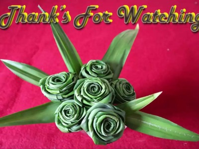 How To Make a Flower With Leaf - DIY Craft Ideas For Decoration