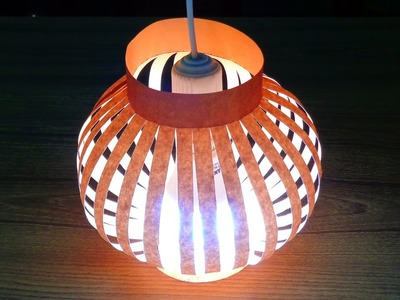 How to Make a Paper Lamp Shade Easily.