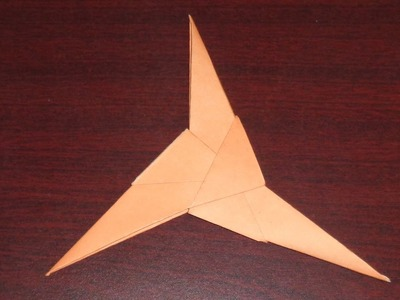 How to Make a Three Bladed Paper Ninja Star (Shuriken) Easily