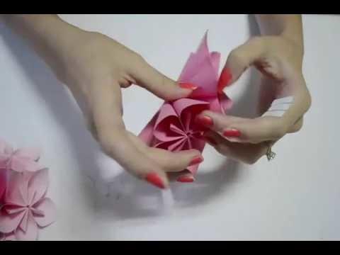 How to make an origami flower ball wedding party decorations how to make an origami flower ball wedding party decorations kusudama diy crafts tutorials mightylinksfo