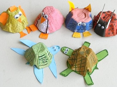 How to make Animals from Egg Cartons | Crafts for kids