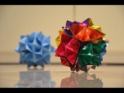 Modular Origami / Sonobe 30units / Kusudama / Spike Ball - YouTube   300x400