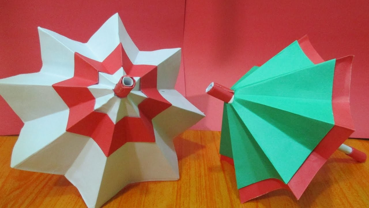 how to make umbrella with chart paper