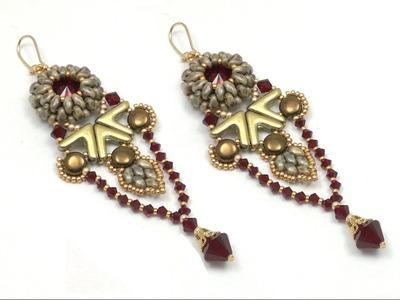 Beading4perfecftionists : Yanara earrings (Egyptian. Art Deco style) beading tutorial
