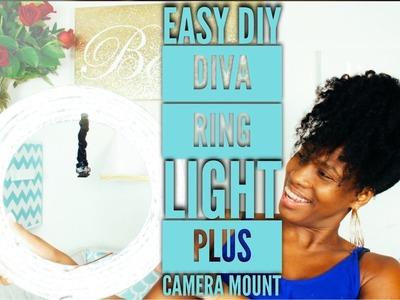 BEST DIY diva ring light plus stand camera mount | under $30