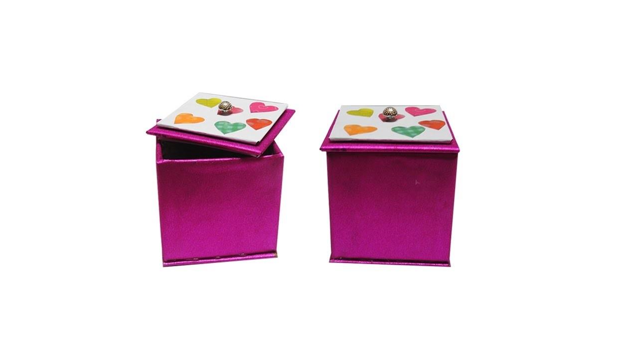 Box diy cardboard storage boxes diy storage box time lapse for Diy box crafts