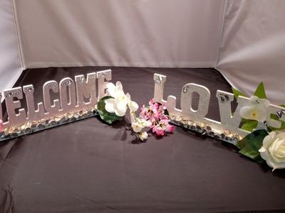 DIY Bling Wedding Signs.Part 1