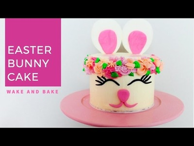 DIY Easter Bunny Cake with Flower Crown for Spring!