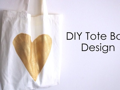 DIY Easy Tote Bag Design! How To Put A Design On A Tote Bag!