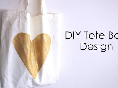 DIY Easy Tote Bag Design! How To Put A Design On A Tote Bag!