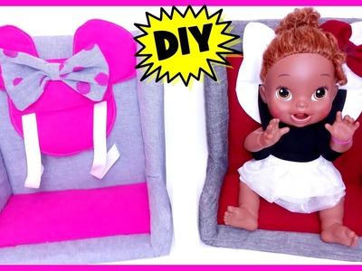 DIY How To Make A Real Car Seat for Dolls!   Baby Alive & American Girl