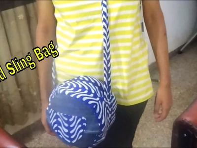 DIY Jeans To Sling Bag | Round Sling Bag From Jeans | Sling Bag | Sling Bag with Zip